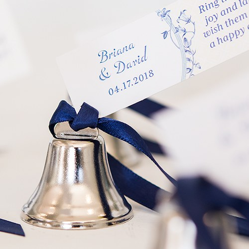 mini wedding reception accessory silver bells
