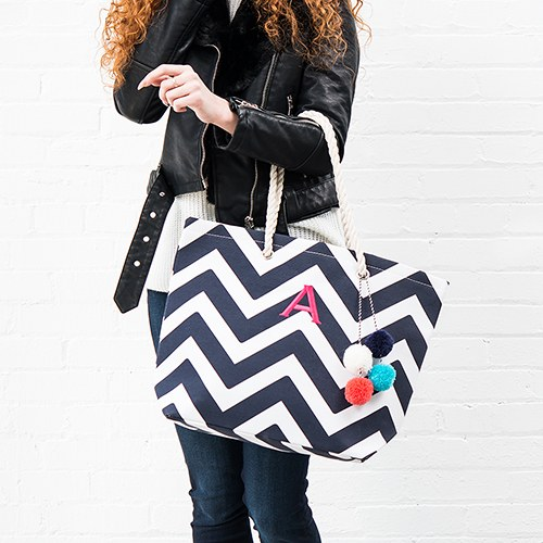 Extra Large Custom Tote - Navy