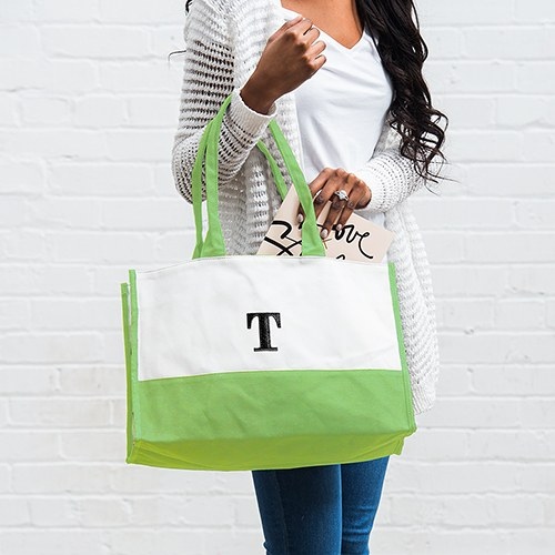 Colorblock Tote Garden Collection Grass Green