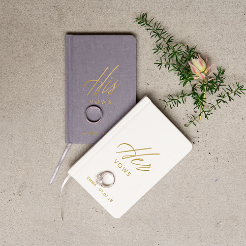 Personalized Vow Pocket Notebook – Her Vows
