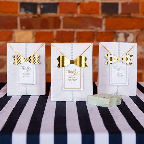 Medium Assorted Metallic Gold Paper Bows