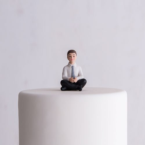 Preteen Boy Porcelain Figurine Wedding Cake Topper