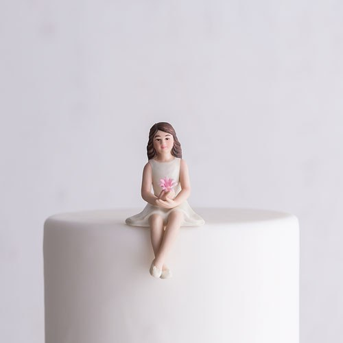 Preteen Girl Porcelain Figurine Wedding Cake Topper