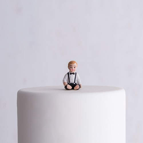 Baby Boy Porcelain Figurine Wedding Cake Topper