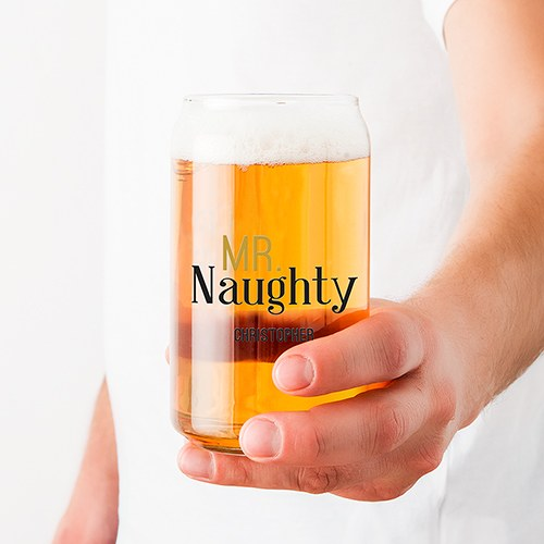 Personalized Can Shaped Drinking Glass – Mr. Naughty Print