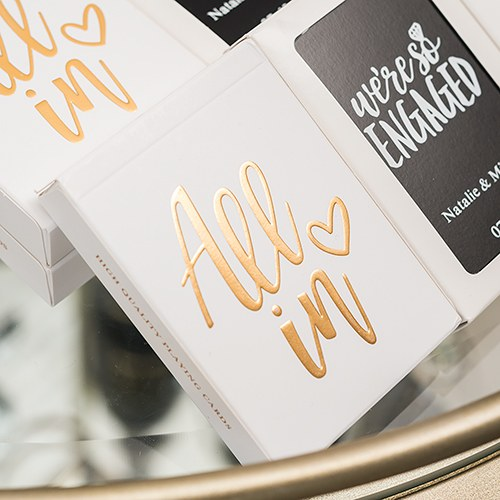 Gold Foil All In Deck of Cards
