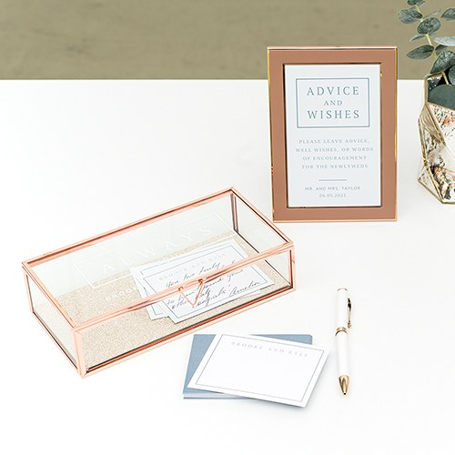 Large Personalized Rectangle Glass Jewelry Box - It Was Always You