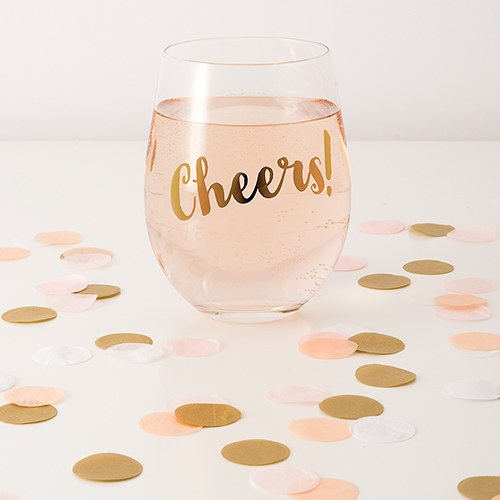 Spring Mix Jumbo Party Confetti - Pink  Blush  Gold
