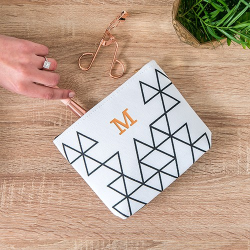 Geo Print Small Zipper Pouch