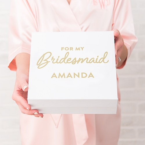 Premium Gift Box - Bridesmaid in Metallic Gold