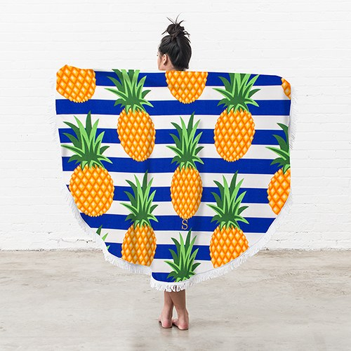 Round Beach Towel - Pineapple