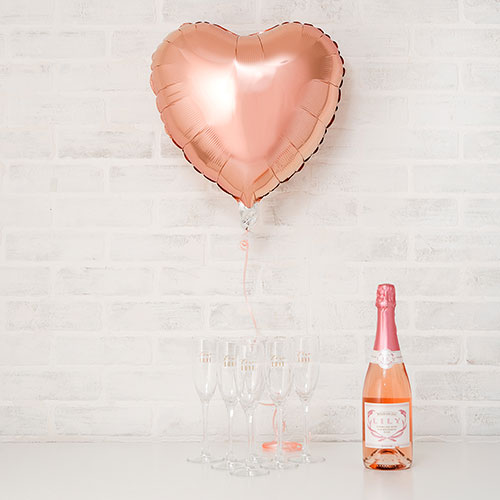 Rose Gold Foil Heart Balloon - 18