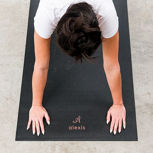 Large Custom No Slip Yoga Mat - Script Initial
