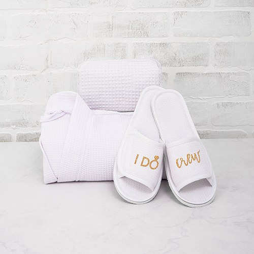 Women's Cotton Waffle Spa Slippers - I Do Crew