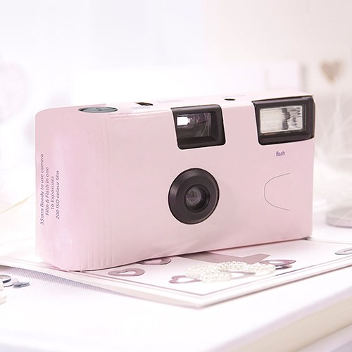 Pink Single Use Camera - Solid Color Design