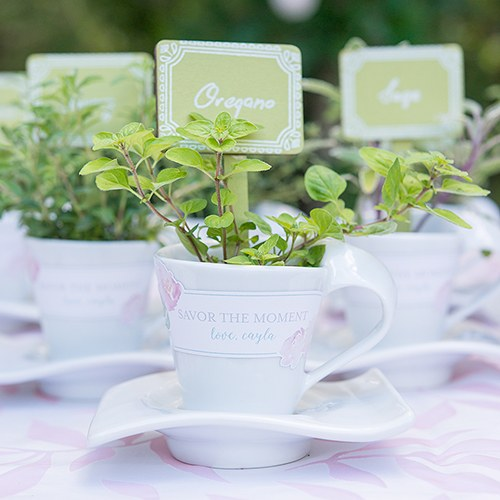 Swish Cup and Saucer Wedding Favor Sets