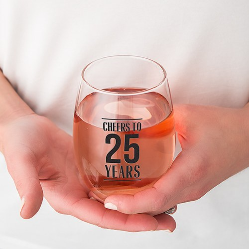 Personalized Stemless Wine Glass - Cheers To The Years