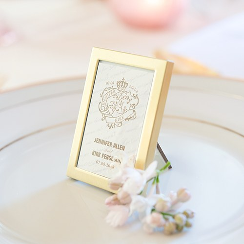Mini Easel Backed Photo Frame In Gold Or Silver The Knot Shop