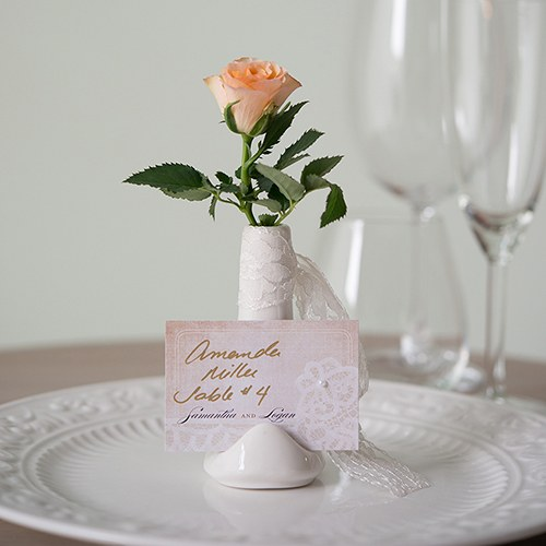 Small Vase Place Card Holder White The Knot Shop
