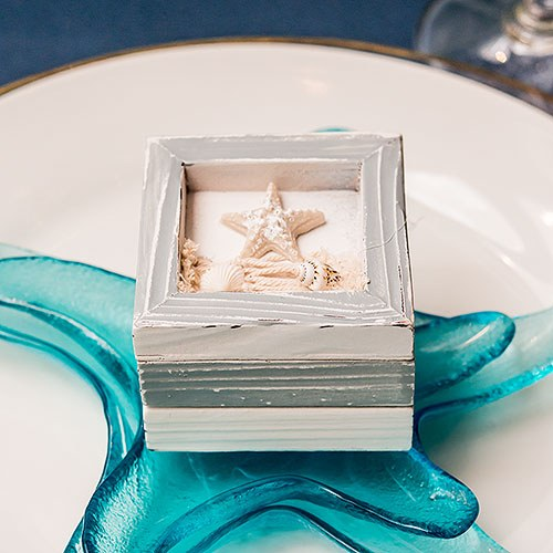 Beach Theme Wooden Trinket Favor Boxes