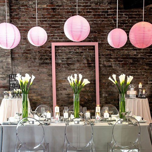 20 Colored Round Large Paper Lanterns The Knot Shop