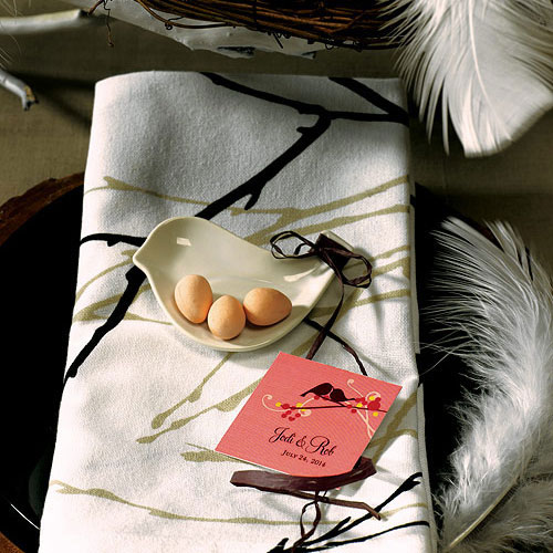 mini love bird wedding favor dish
