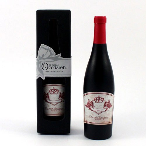Wine Bottle Shaped Corkscrew Opener in Gift Packaging