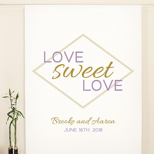 Geo Marble Personalized Backdrop