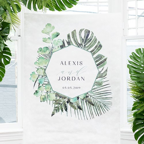 Greenery Personalized Photo Backdrop