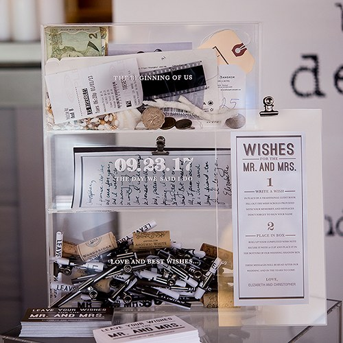 Bistro Bliss Wedding Sentiments Personalized Shadow Box