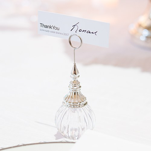 Ornamental Ribbed Orb Stationery and Place Card Holder