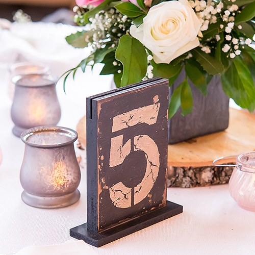 Rustic Self Standing Table Number And Holders