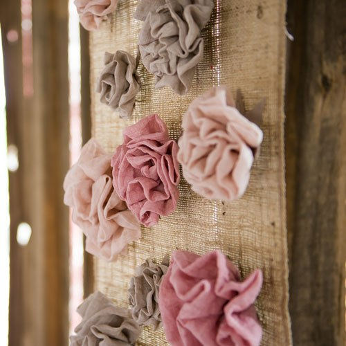 Fabric Ruffle Flower - Small