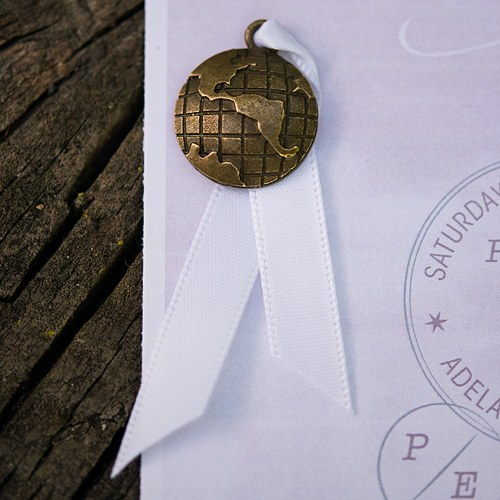 Globe Charms with Antique Brass Finish