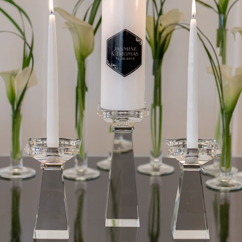 Dual Purpose Crystal Candle Holder Low