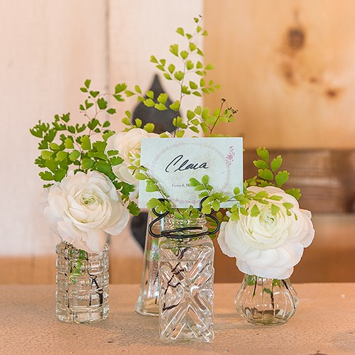 Vintage Inspired Pressed Glass Vases With Stationery Holders The