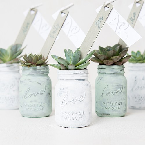 Small Mason Jar Favors with Lids
