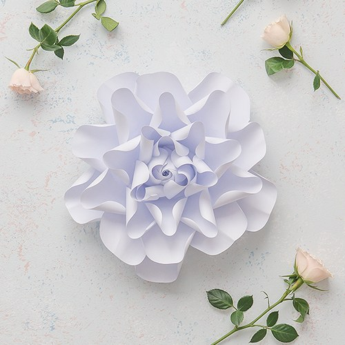 Medium DIY Paper Dahlia Décor Flower
