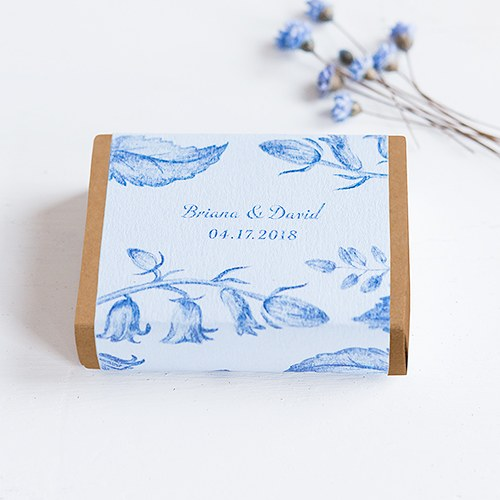 Kraft  Drawer-Style Favor Box With Romance Floral Wrap Assortment