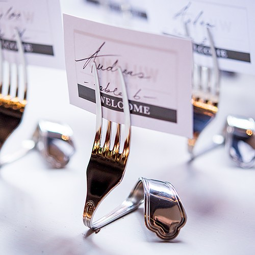Twisted Fork Table Sign Holders