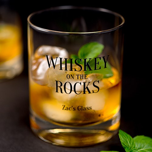 Classic Rocks Glass - Whiskey Rocks Printing