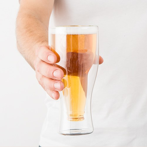 Double Walled Beer Glass