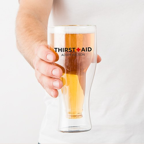 Double Walled Beer Glass - Thirst Aid Printing