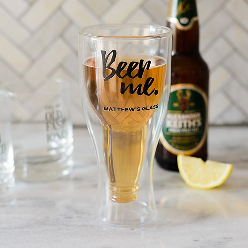 Double Walled Beer Glass - Beer Me Printing