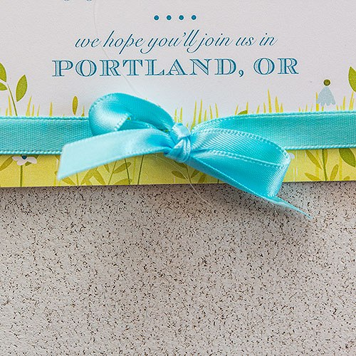 Personalized Wedding Favor Ribbon