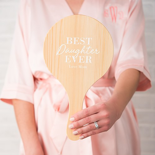 Wooden Hand Mirror - Best Ever