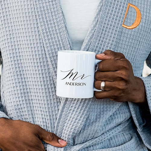 Custom White Ceramic Coffee Mug - Mr. Print