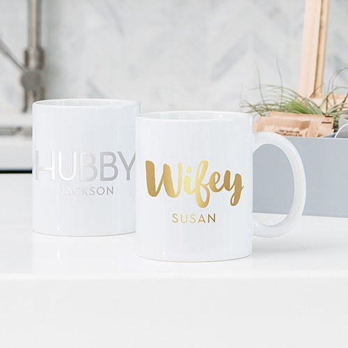Custom White Ceramic Coffee Mug – Hubby Print