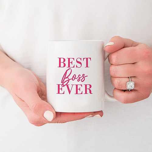 Personalized Coffee Mug - Best Boss Ever Female