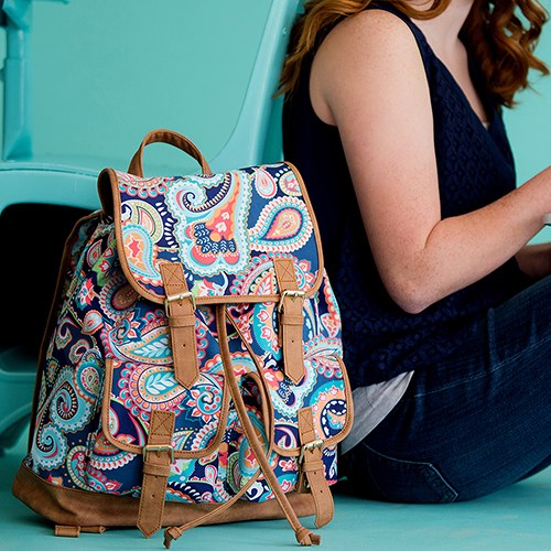 Retro Style Backpack - Paisley